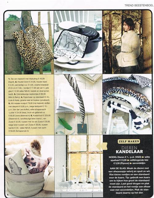 Onze dierenhuiden in Libelle 34, 2014: geitenhvellen, schapenvachten en koeienhuid