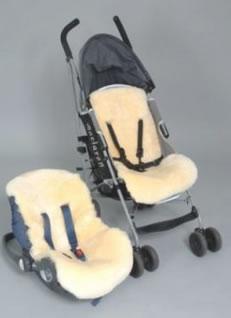 Lamsvacht voor buggy/autostoel