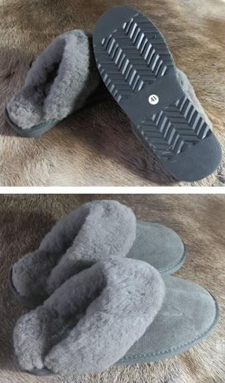 <b>Pantoffelslipper - antraciet</b>