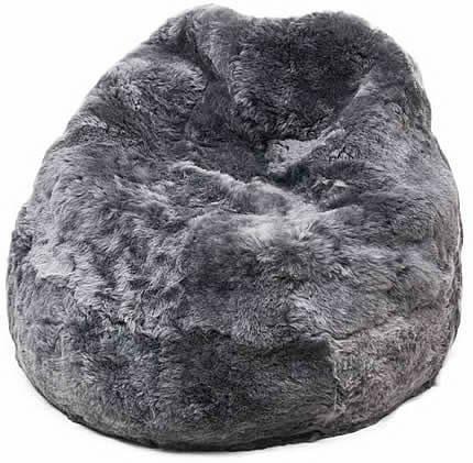 Zitzak: zilvergrijs, kortharig